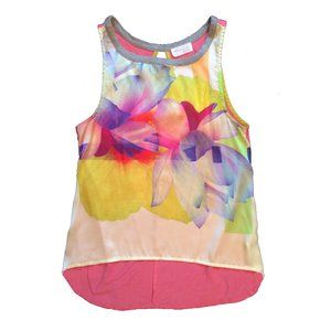 Zara bright watercolor floral top